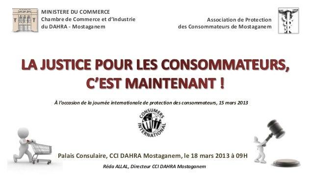 MINISTERE DU COMMERCEChambre de Commerce et d'Industrie                                   Association de Protectiondu DAHR...
