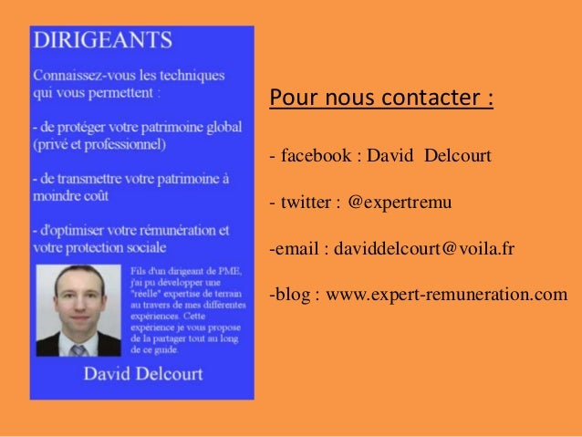 Pour nous contacter : - facebook : David Delcourt - twitter : @expertremu -email : daviddelcourt@voila.fr -blog : www.expe...