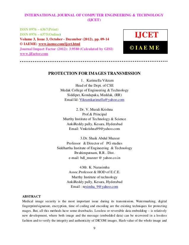 International Journal ofJOURNAL OF COMPUTER ENGINEERING & TECHNOLOGY   INTERNATIONAL Computer Engineering and Technology (...