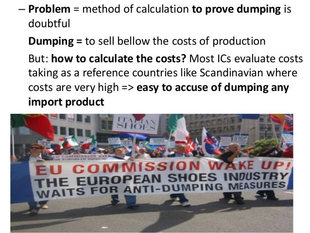 Dumping, Anti-Dumping