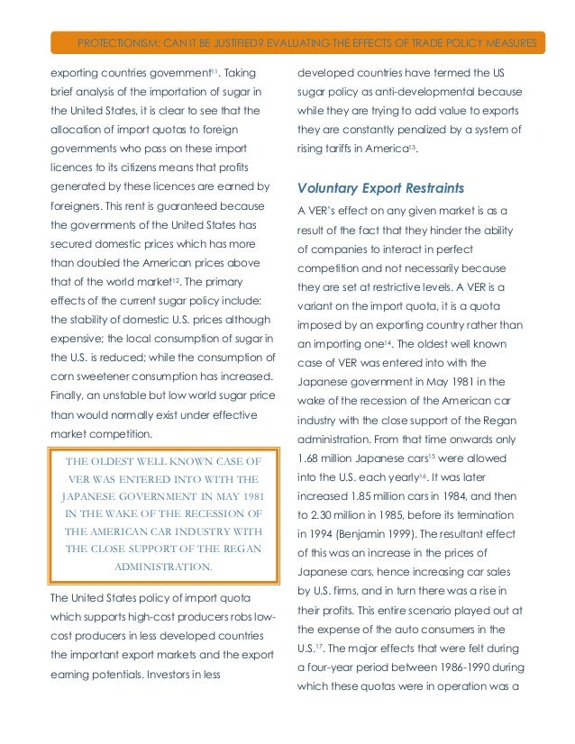 advantages and disadvantages of protectionism pdf