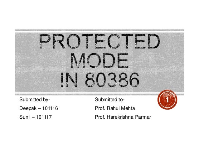 protected mode memory addressing pdf