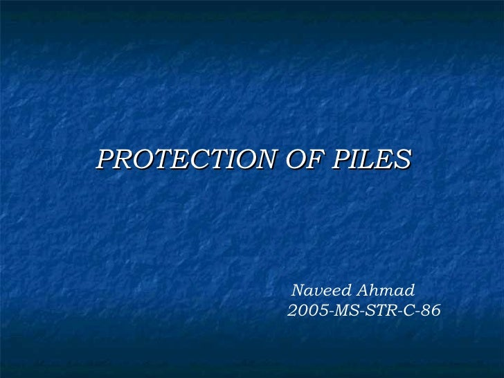 Protection of piles