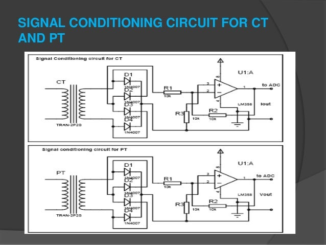Basic protection of transformer using microcontroller based relay 10 signal conditioning circuit for ct and pt ccuart Gallery