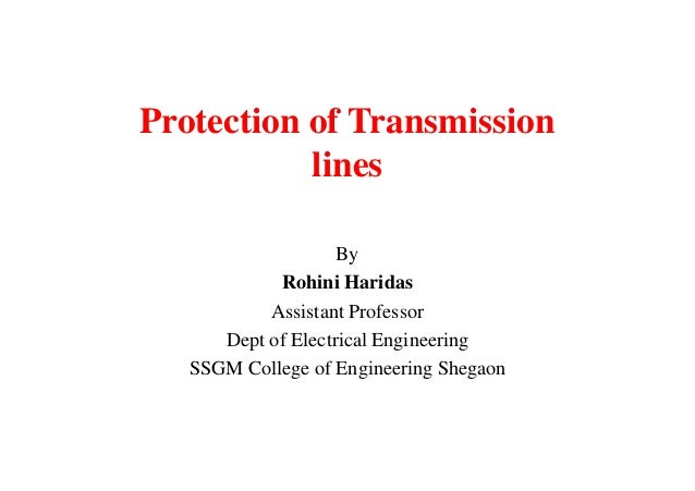 protection of transmission line using synchrophasors We consider the problem of detecting a fault on a transmission line from the residual vector of a synchrophasor state estimator secure remote backup protection of transmission lines using synchrophasors.