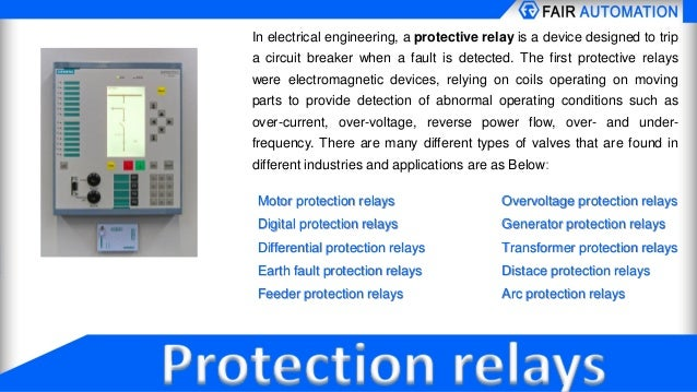 Protection relays for industrial process control