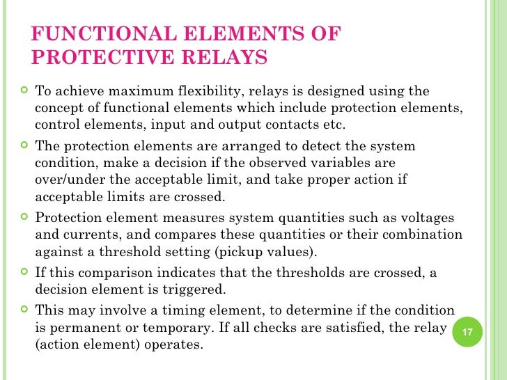 Power system protection implementationprotection settings team 17 functional elements of protective relays fandeluxe Gallery