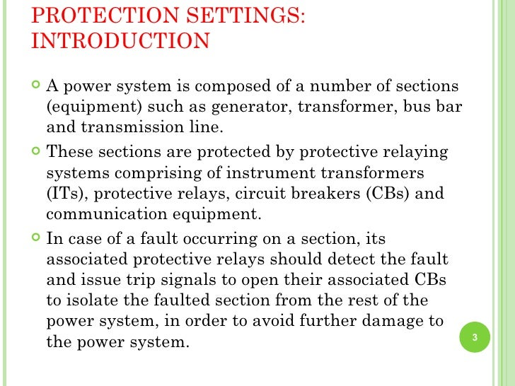 Power-system protection