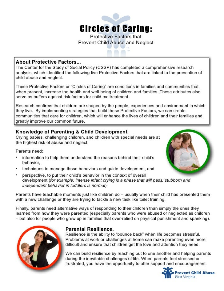 Circles of Caring:                                       Protective Factors that                                  Prevent ...