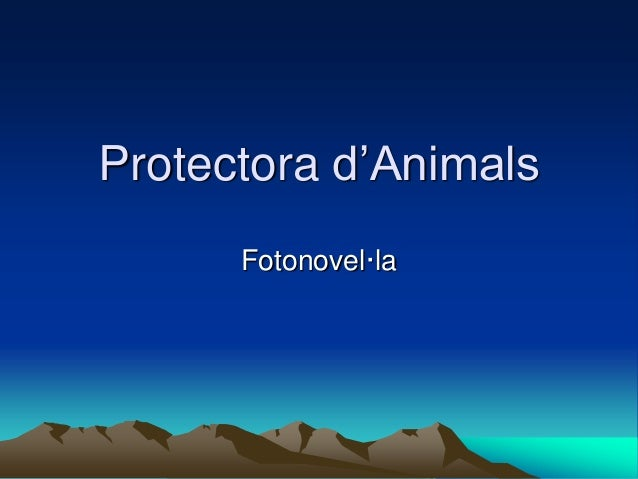 Protectora d'Animals Fotonovel·la