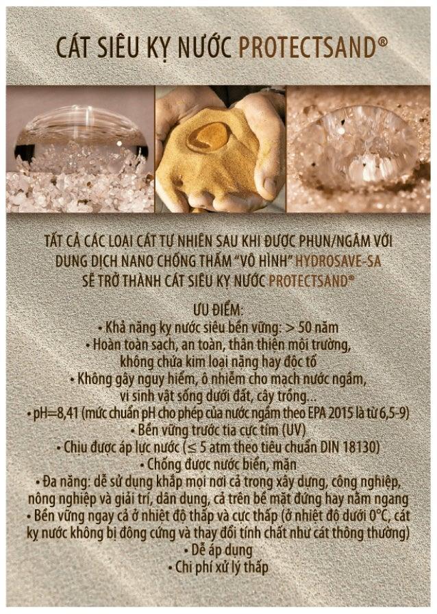 "CÁT KỴ NƯỚC ""Protectsand"" .Hydrophobic Sand ""Protectsand"" Slide 2"