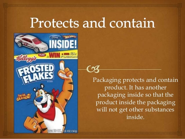 Packaging protects and containproduct. It has anotherpackaging inside so that theproduct inside the packagingwill not get ...