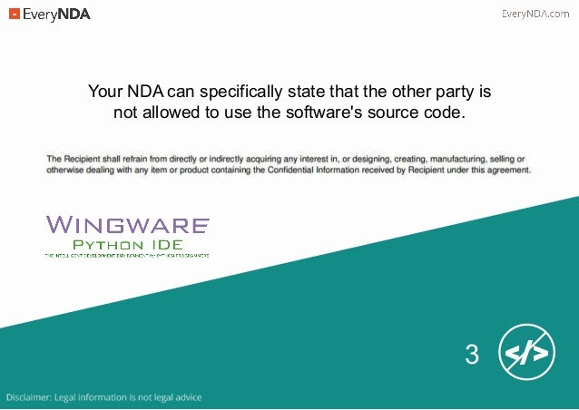 Protect Software Source Code with an NDA