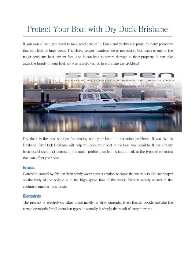 Protect your boat with dry dock brisbane