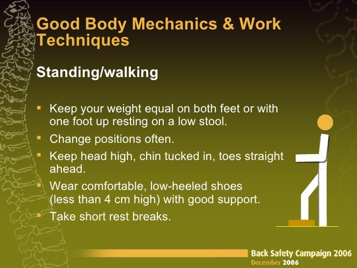 Wear Comfortable Low Heeled Shoes When Lifting