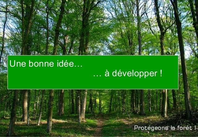 Une bonne idée… … à développer !