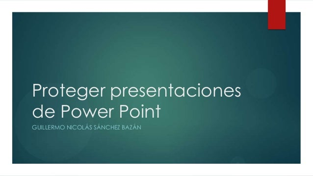 proteger presentaciones de power point