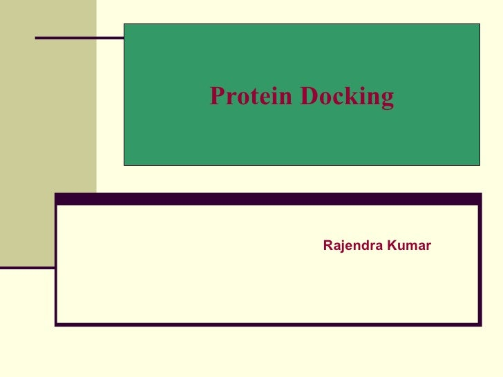 Protein Docking         Rajendra Kumar