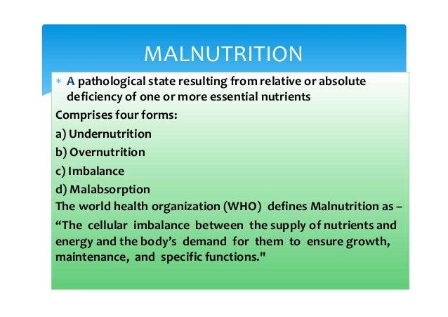 Protein energy malnutrition Slide 2