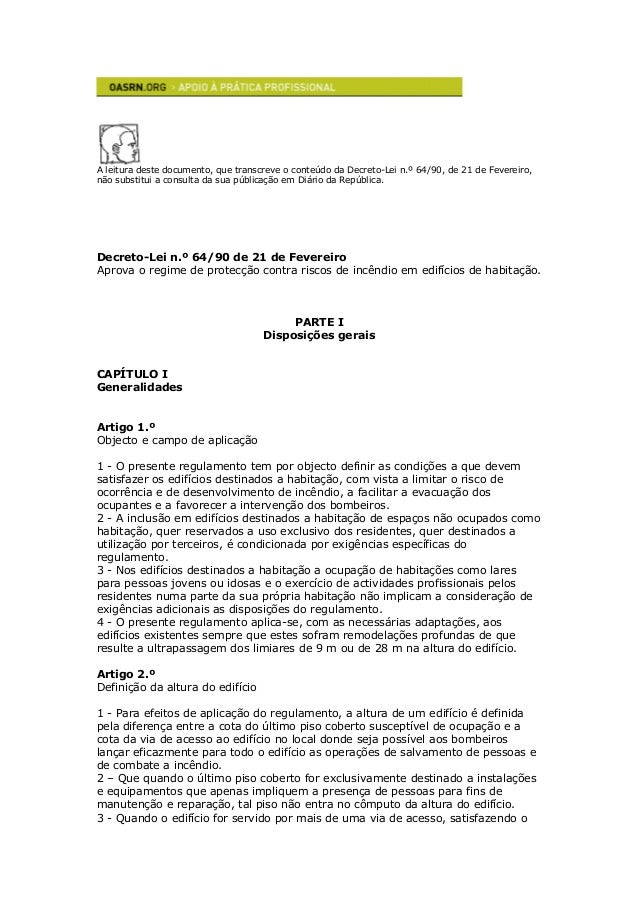 A leitura deste documento, que transcreve o conteúdo da Decreto-Lei n.º 64/90, de 21 de Fevereiro, não substitui a consult...