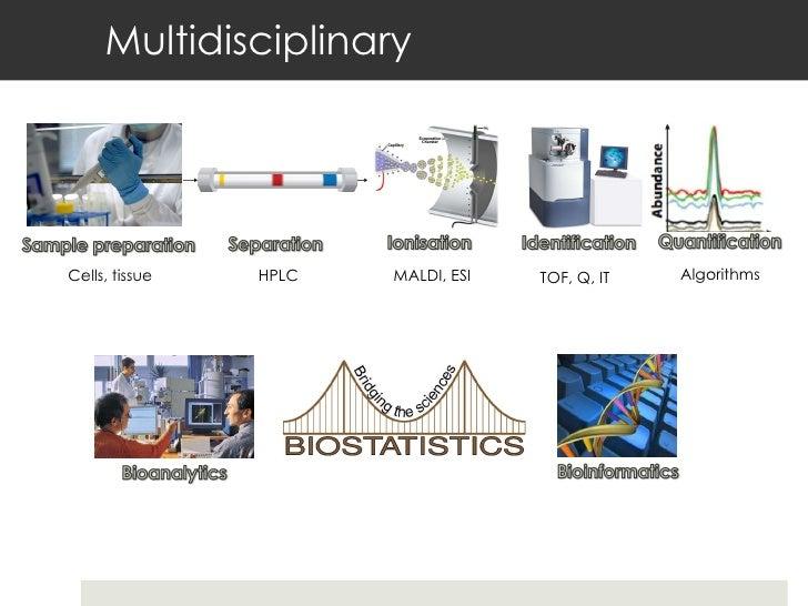 Multidisciplinary TOF, Q, IT MALDI, ESI HPLC Cells, tissue Algorithms