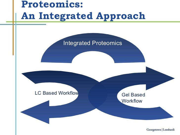 Proteomics:  An Integrated Approach Gel Based Workflow LC Based Workflow Integrated Proteomics