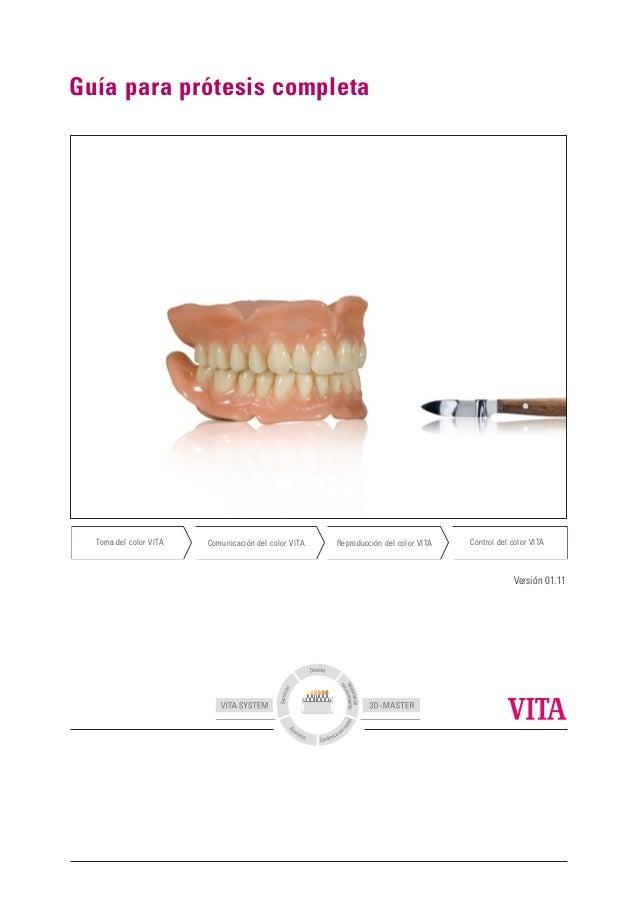 Guía para prótesis completa Versión 01.11 Control del color VITAReproducción del color VITAComunicación del color VITAToma...