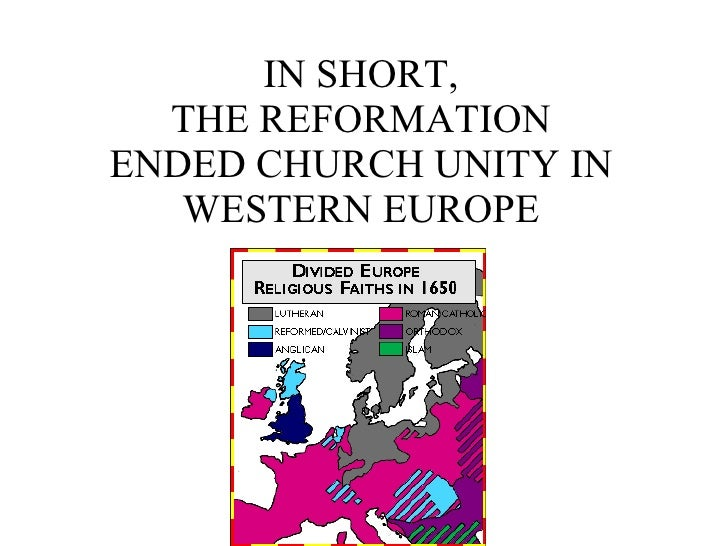 The Reformation in Europe