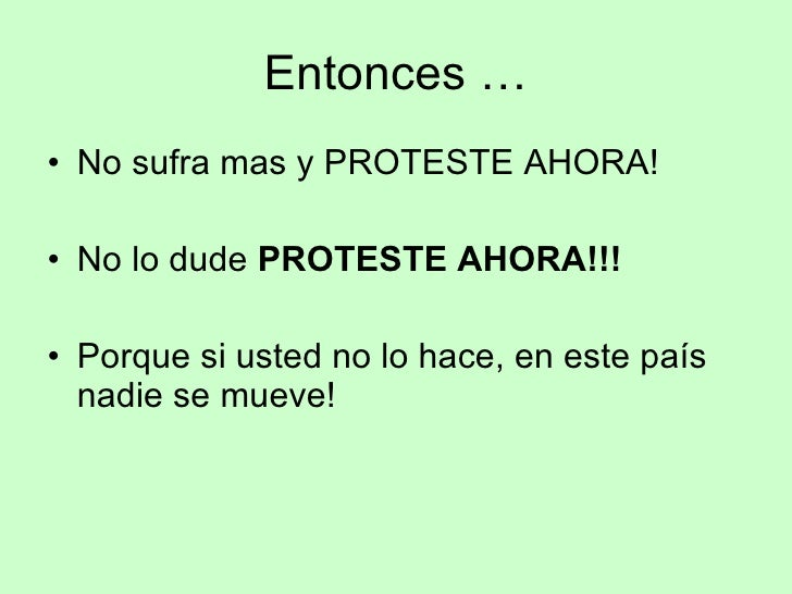 Proteste AHORA! Slide 2