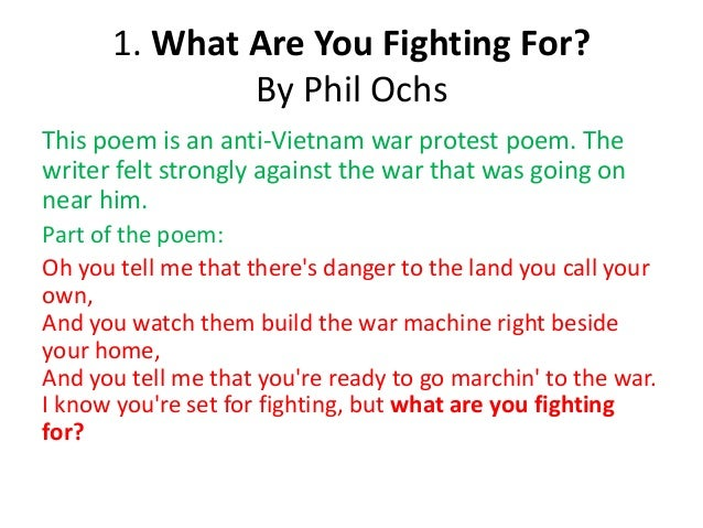 An Anthology of Protest Poems and their meanings