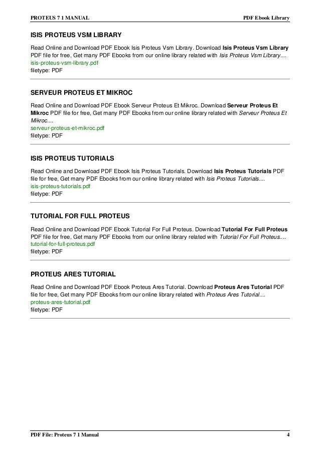 proteus 7 1 manual rh slideshare net Proteus Disease proteus ares user manual pdf