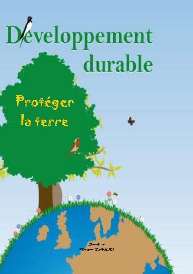 Doctissimo.fr Avril 2012 Page 1 sur 73 Recueil de Maryam RAHOU Protéger la terre