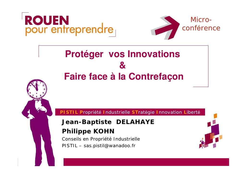 Micro-                                                   conférence    Protéger vos Innovations               &  Faire fac...