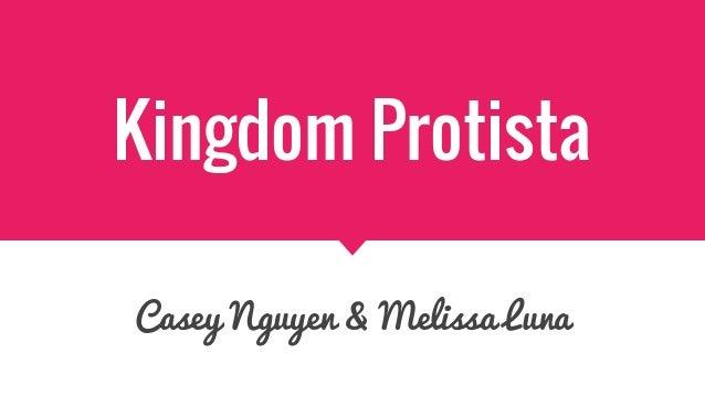 Kingdom Protista Casey Nguyen & Melissa Luna