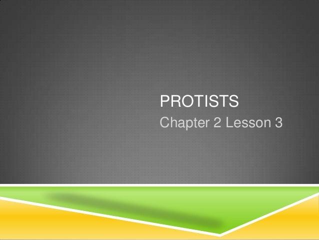 PROTISTSChapter 2 Lesson 3