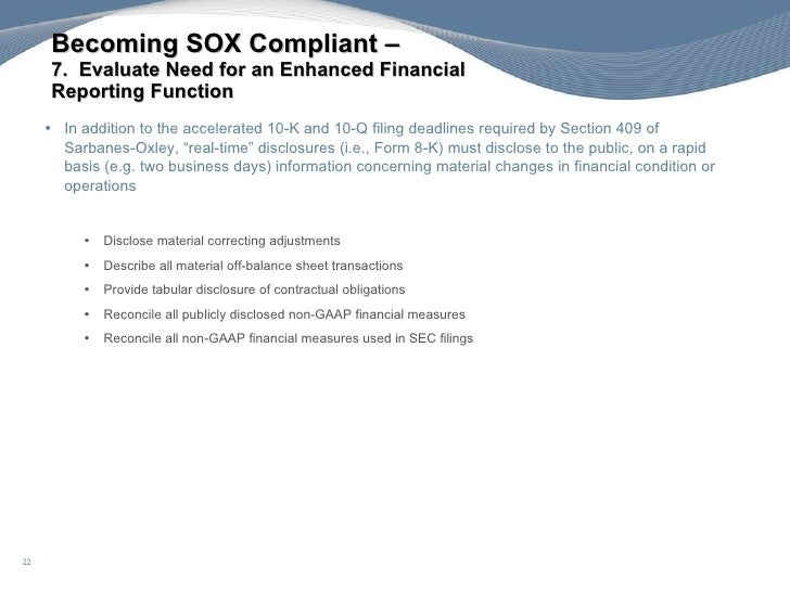 Sox 302 in the year of ipo