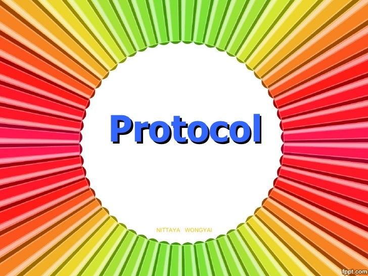 Protocol  NITTAYA WONGYAI