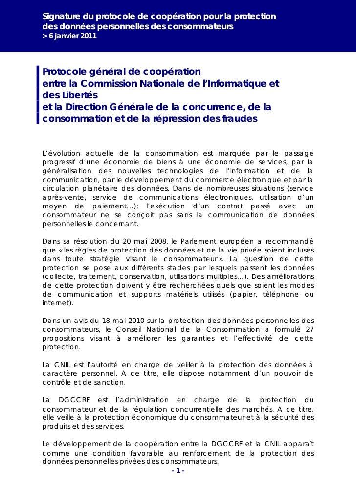 Protocole CNIL et DGCCRF