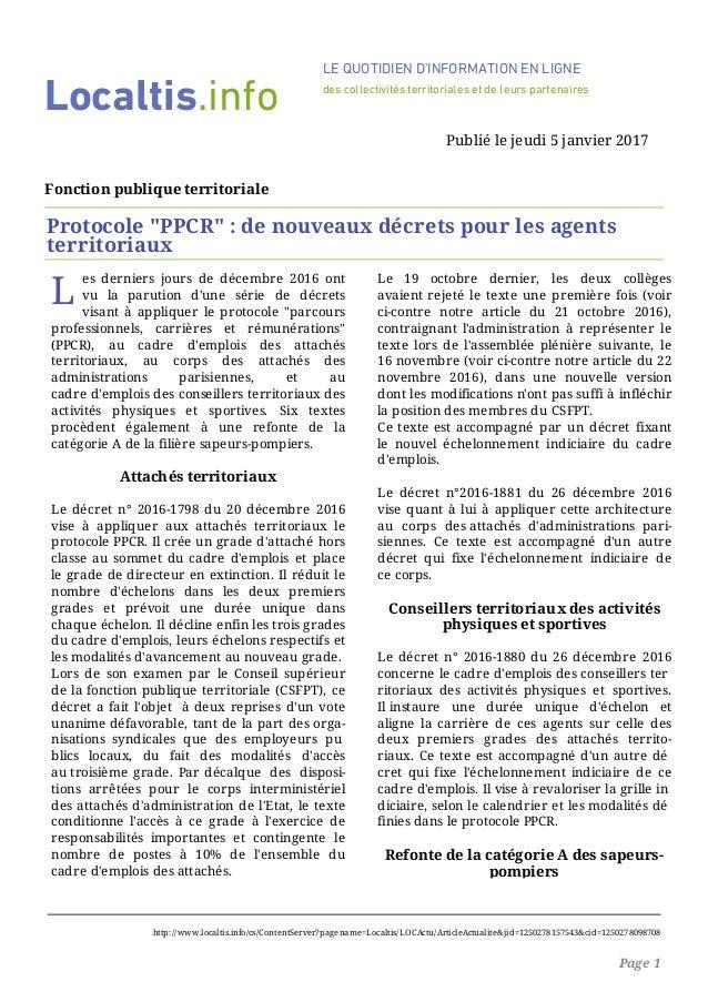 """L es derniers jours de décembre 2016 ont vu la parution d'une série de décrets visant à appliquer le protocole """"parcours p..."""