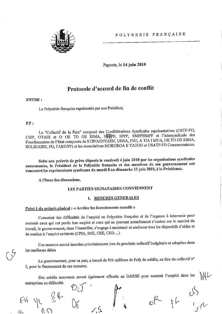 Protocole Pour La Paix