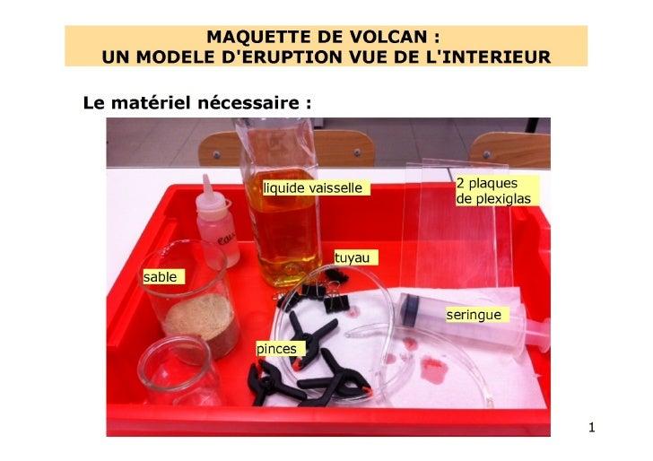 Protocole pour réaliser un modèle de volcan