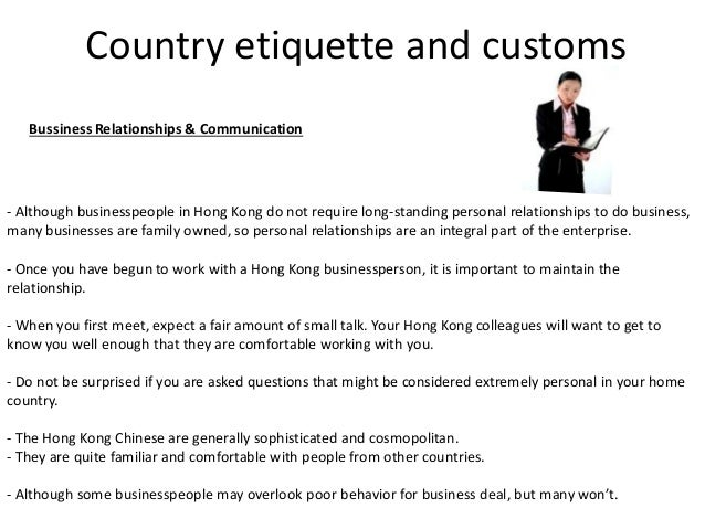 Protocol in other countries hong kong 19 country etiquette reheart Choice Image