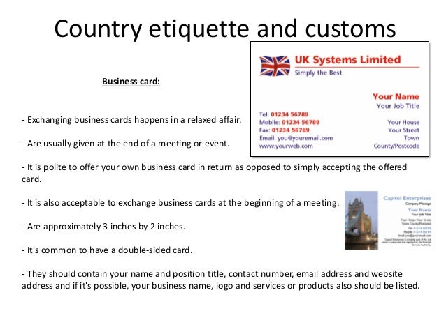 Business card protocol etiquette gallery card design and card template business card protocol etiquette thank you for visiting reheart nowadays were excited to declare that we have discovered an incredibly interesting topic colourmoves