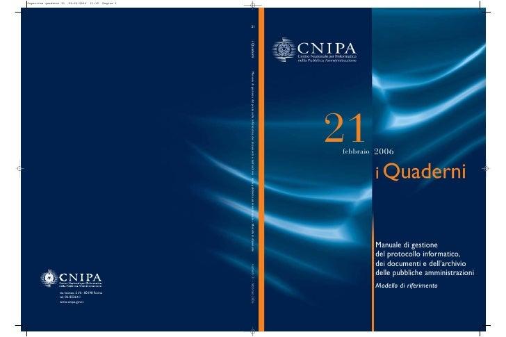 Protocollo informatico manuale_cnipa_quaderno_n_21b