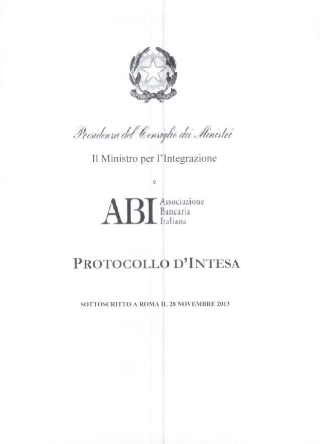 Fondo casa per i giovani: Protocollo di intesa ABI - Ministro per l'Integrazione