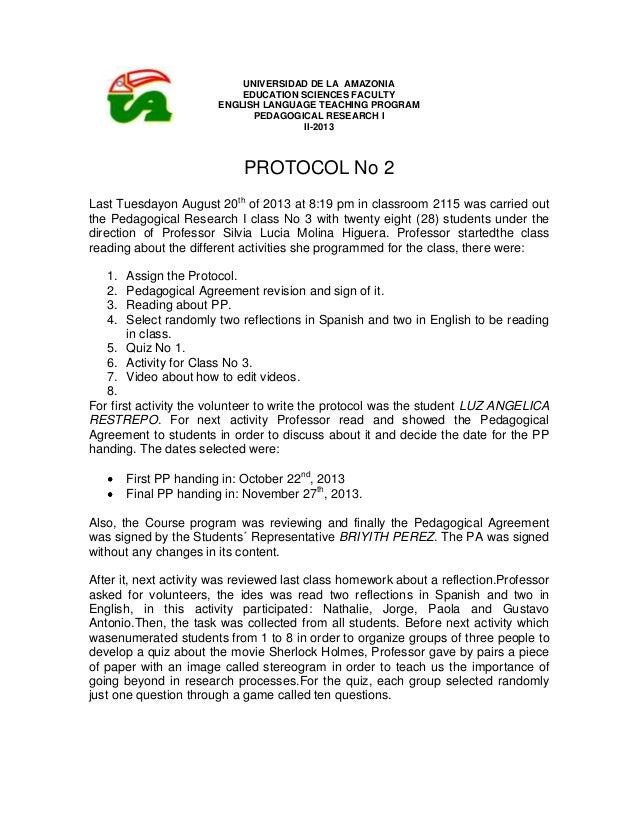 UNIVERSIDAD DE LA AMAZONIA EDUCATION SCIENCES FACULTY ENGLISH LANGUAGE TEACHING PROGRAM PEDAGOGICAL RESEARCH I II-2013 PRO...
