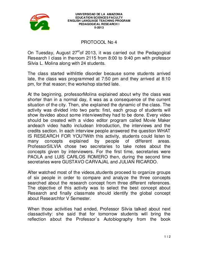 UNIVERSIDAD DE LA AMAZONIA EDUCATION SCIENCES FACULTY ENGLISH LANGUAGE TEACHING PROGRAM PEDAGOGICAL RESEARCH I II-2013 1 ǀ...