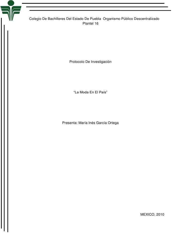 Colegio De Bachilleres Del Estado De Puebla Organismo Público Descentralizado                                  Plantel 16 ...