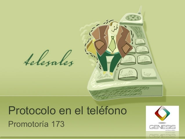 Protocolo en el teléfono Promotoría 173