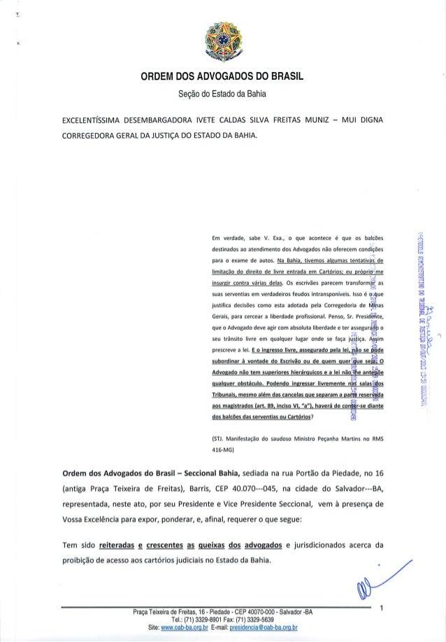 Retirada das cancelas nos cartórios - Protocolo na Corregedoria